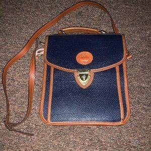 Dooney & Bourke square carrier bag/purse blue